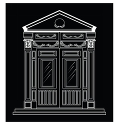 Entrance in classic style vector