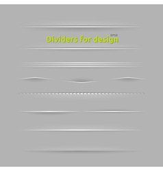 Dividers for design vector image