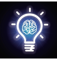 Light bulb and brain icon vector