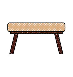 School table isolated icon vector
