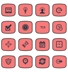 Set of simple management icons vector
