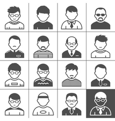 Men users icons vector