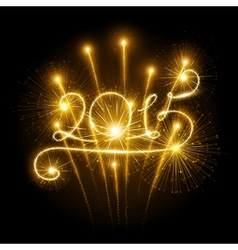 New Year fireworks vector image