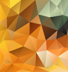 Orange autumn triangular background vector