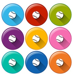 Circle buttons with small balls vector