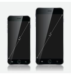 Realistic black mobile apple iphone 6 plus vector image