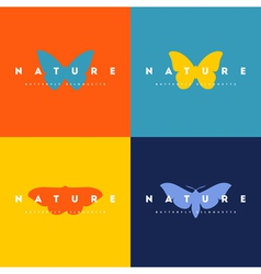 Butterfly set of logo design templates vector