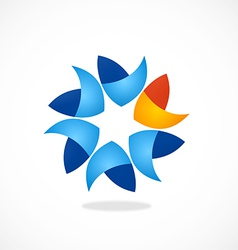 Circular shape business abstract logo vector