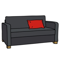 Black sofa vector
