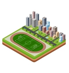 City stadium vector