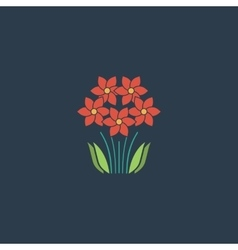 Bush flower icon vector
