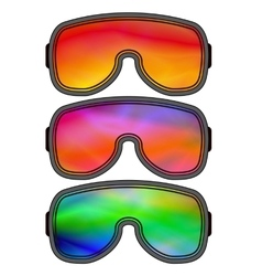 Set of different ski goggles vector