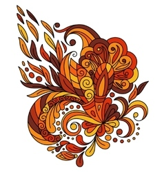 Ethnic floral zentangle doodle background pattern vector