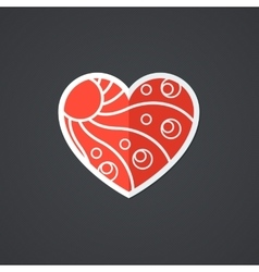 Heart icon single object symbol for vector