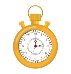 Colorful old stopwatch graphic vector
