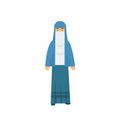 arabic muslim woman muslim woman in traditional vector image