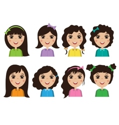 avatars people women vector image vector image