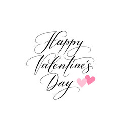 Background with hearts and happy valentines day vector