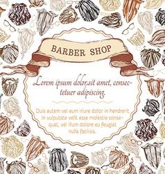 Barber shop background fashion man beards vector