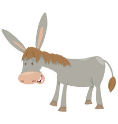 Donkey farm animal vector
