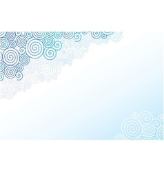 Doodle swirl clouds horizontal background vector image