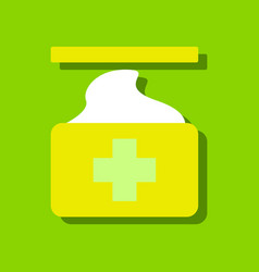 flat icon design collection medical napkins in vector image