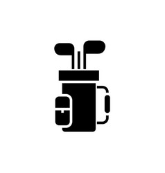 golf bag icon black sign on vector image