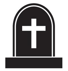 Graveyard skull cross vector