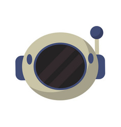 helmet astronaut equipment icon vector image