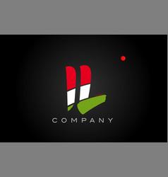 Il i l alphabet letter logo combination icon vector