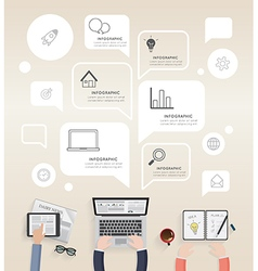 Infographic of modern creative office vector