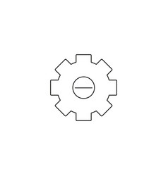 integration icon style is flat circled symbol vector image