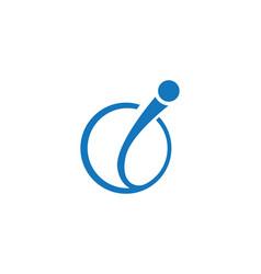 Letter i logo template vector