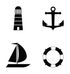 marine and nautical icon vector image
