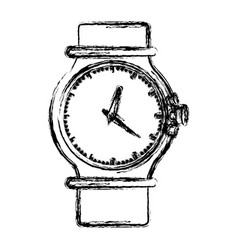 Monochrome blurred silhouette of female bracelet vector