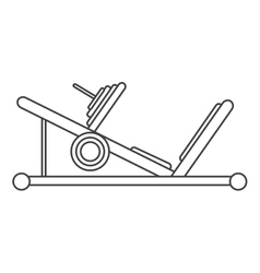 outline press legs sport machine gym design vector image