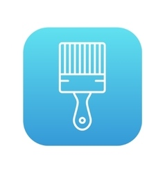 Paintbrush line icon vector image