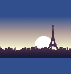 paris scenery at sunrise landscape vector image vector image