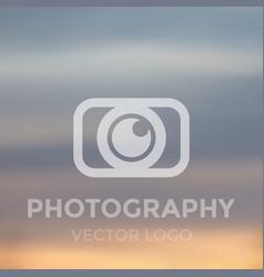 photography logo concept vector image