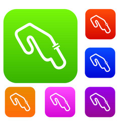 race circuit set collection vector image vector image