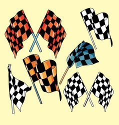 Race flags vector image vector image