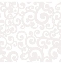 Seamless abstract white background with swirls vector
