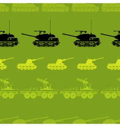 seamless background with military equipment vector image vector image