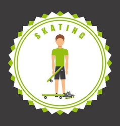 skating seal vector image