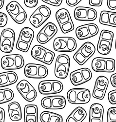 Soda can tabs pattern vector image