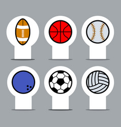 sport ball label vector image vector image