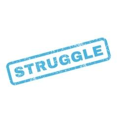 Struggle rubber stamp vector