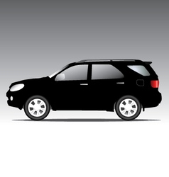 Suv car isolated on black vector
