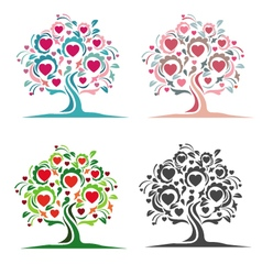 Tree of hearts vector