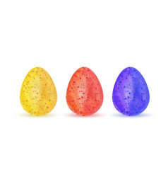 Watercolor easter eggs vector